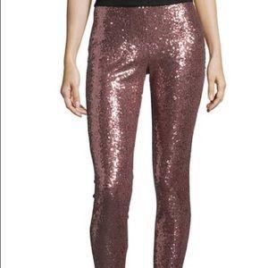Rose Gold Sequin Leggings